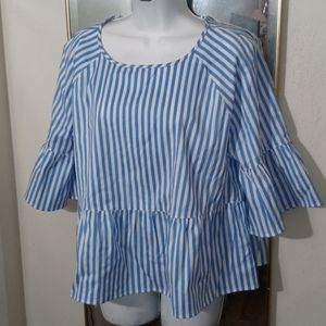 LANDS' END Striped Top 12P